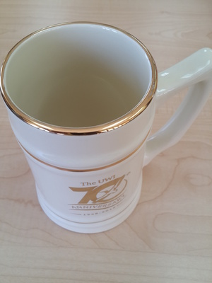 UWI 70TH Anniversary Ceramic Steins